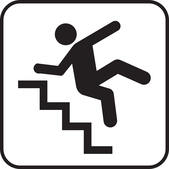 Falling down stairs clipart banner transparent Falling Tripping Down · Free Vector Graph #274230 - Clipartimage.com banner transparent
