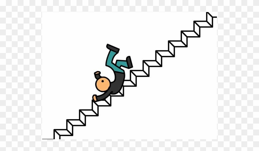 Falling down stairs clipart jpg library stock Fall Down Stairs - Caida De Escaleras Dibujo Clipart (#1609410 ... jpg library stock
