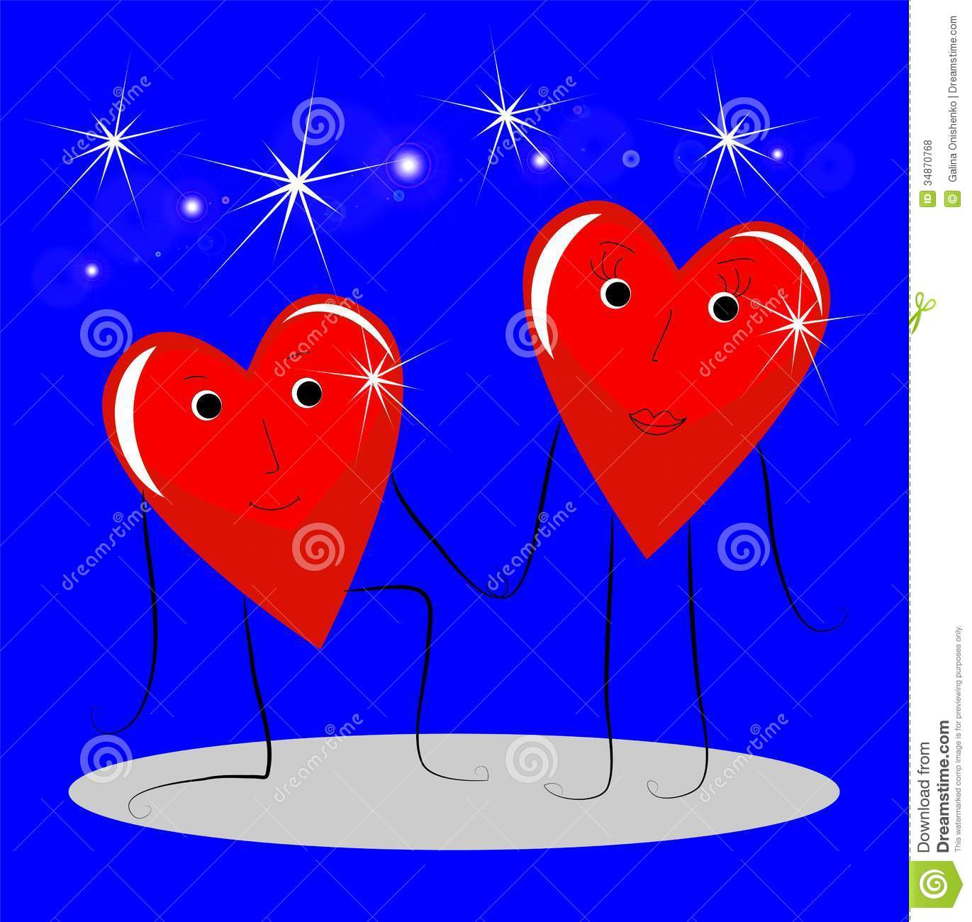 Falling in love clipart hearts svg black and white download Two Bright Red Falling In Love Of Heart Royalty Free Stock Photos ... svg black and white download