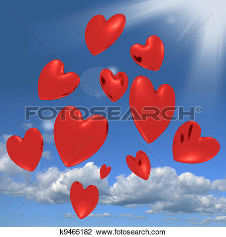 Falling in love clipart hearts free download Clip Art of Hearts Falling From The Sky Showing Love And Romance ... free download