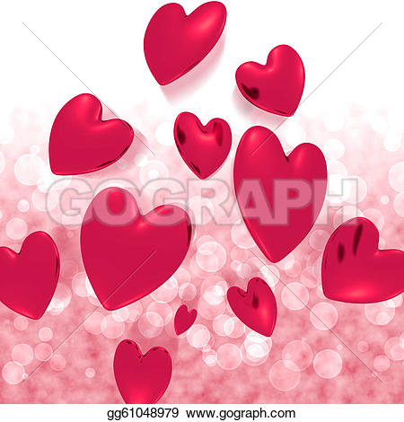 Falling in love clipart hearts clipart freeuse download Clip Art - Hearts falling with red bokeh background showing love ... clipart freeuse download