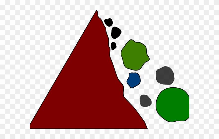 Rockslide clipart vector transparent Boulders Clipart Rock Slide - Falling Rocks Hazard Sign - Png ... vector transparent