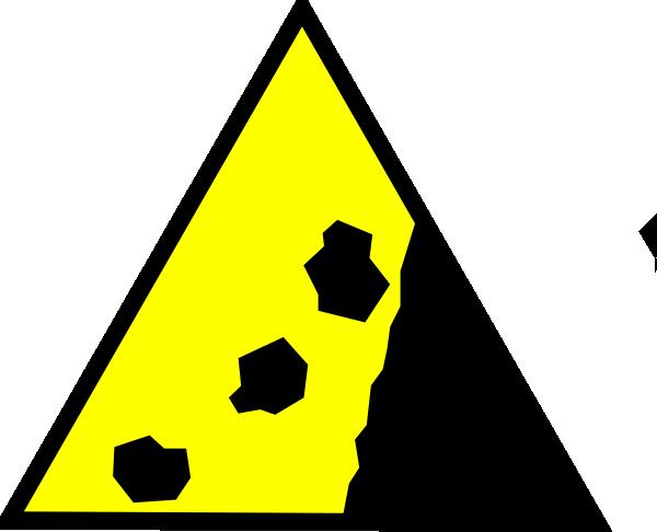 Falling rocks clipart transparent stock Falling Rocks Yellow Clip Art at Clker.com - vector clip art online ... transparent stock