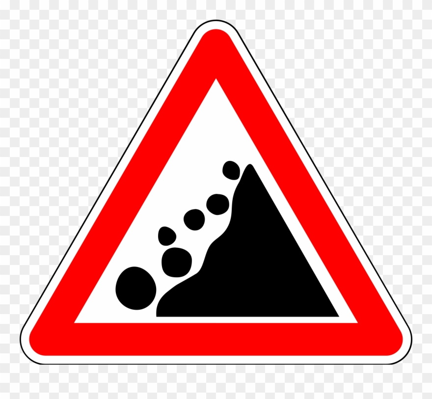 Falling rocks clipart vector black and white 16 Warning-falling Rocks - Falling Rocks Sign Png Clipart (#3810267 ... vector black and white