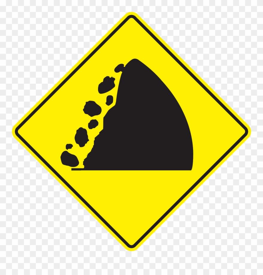 Falling rocks clipart svg free download Fallen Rock Landslide Dim - Falling Rocks Sign Clipart (#2013123 ... svg free download
