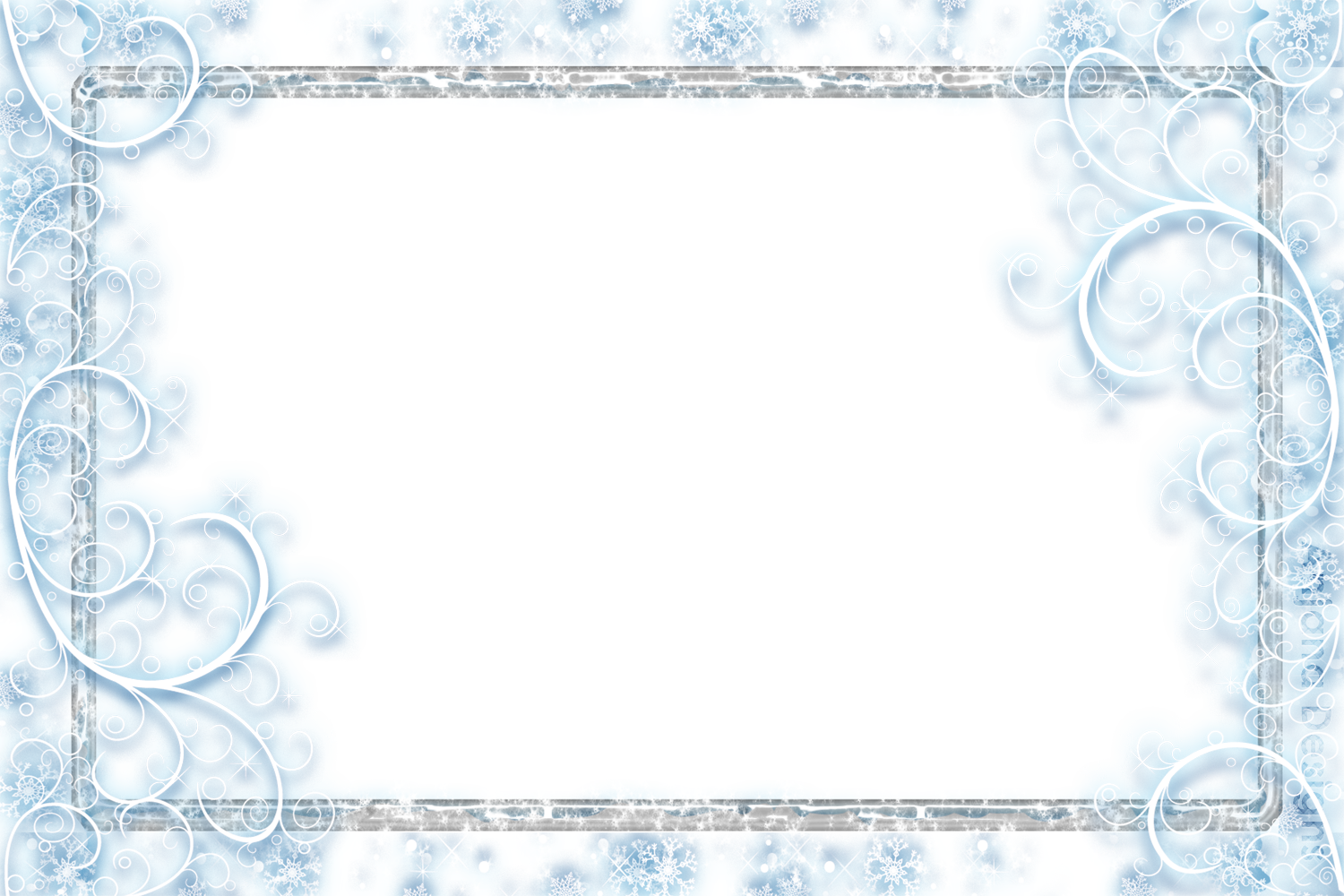 Falling snowflake clipart border image free library Snowflakes Falling Transparent PNG Pictures - Free Icons and PNG ... image free library