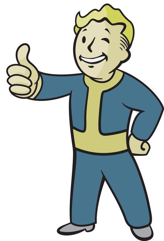 Fallout vault boy clipart hd