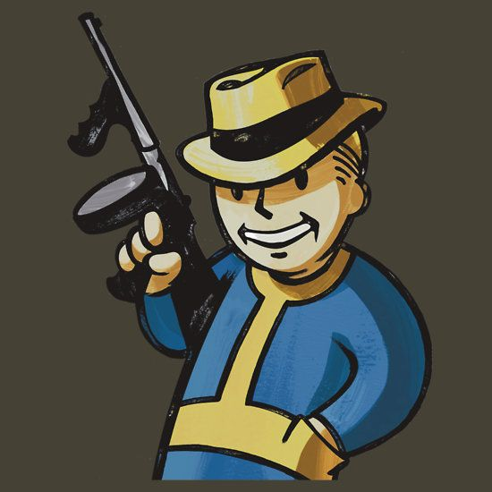 Fallout vault boy clipart hd vector free library Fallout 3 Vault Boy Gangster/Gambler | Geeky Cool T-Shirts I Made ... vector free library