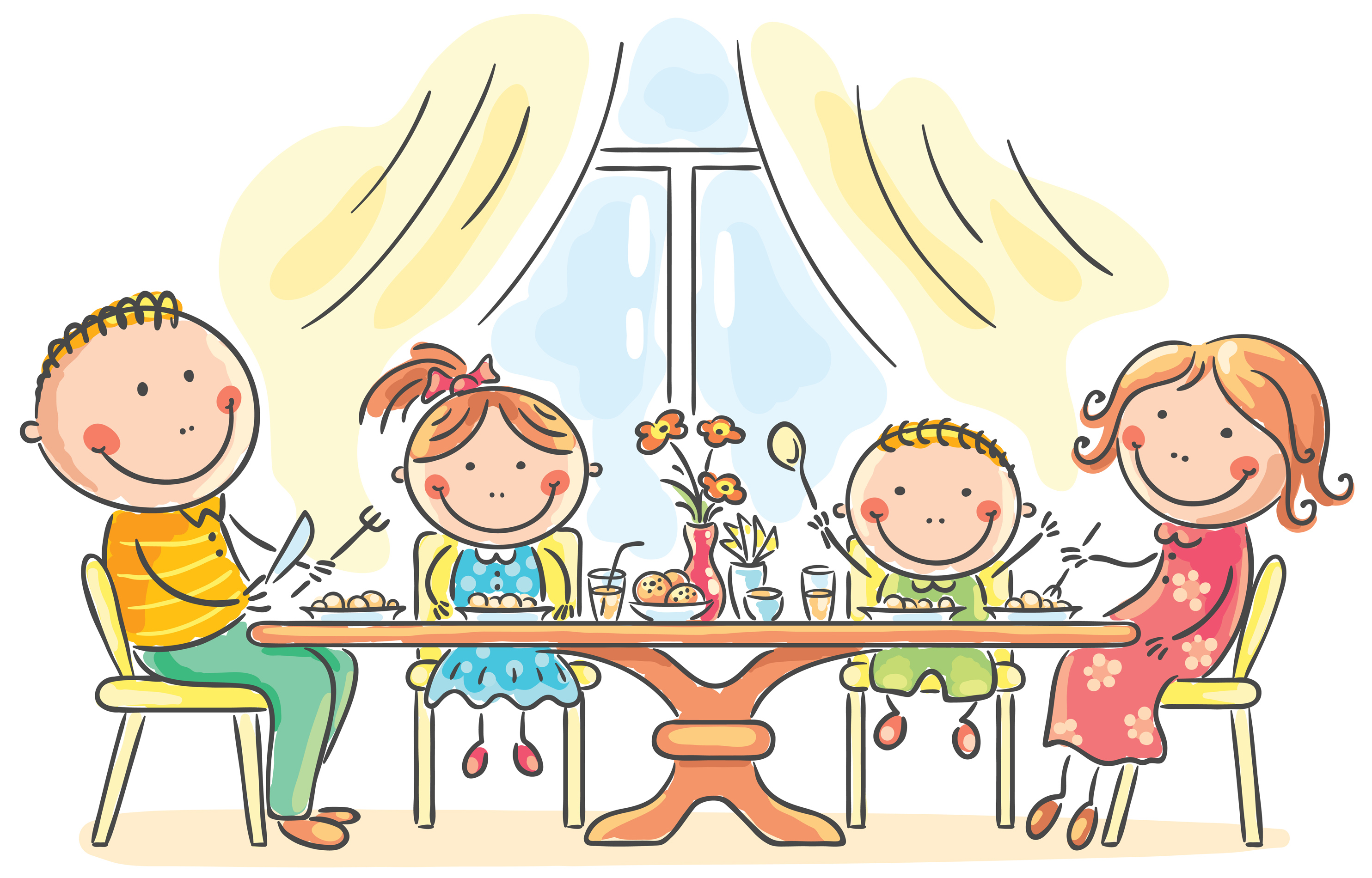 Fami clipart graphic library 74+ Family Dinner Clipart | ClipartLook graphic library