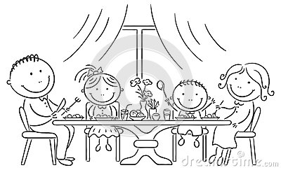 Familie beim essen clipart clip art library download Happy Family Breakfast Stock Illustrations – 230 Happy Family ... clip art library download