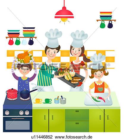 Familie beim essen clipart clipart transparent library Clip Art - familie, machen, vorbereitung, von, essen u11446852 ... clipart transparent library