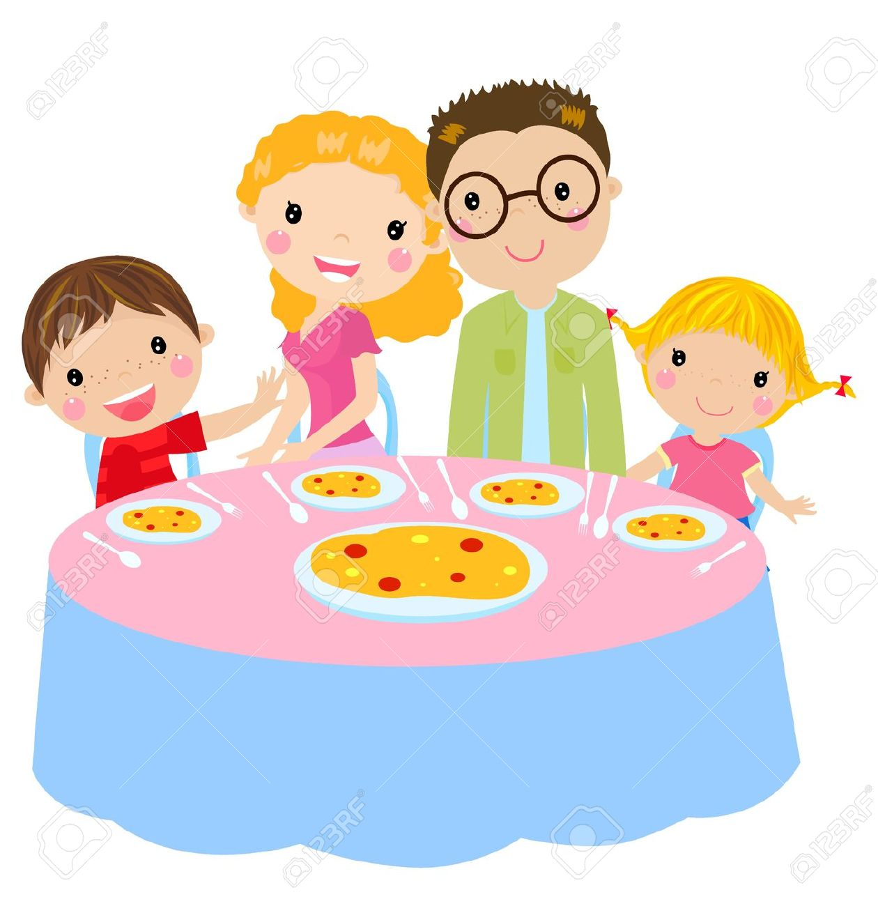 Familie beim essen clipart picture royalty free download Familie Essen Lizenzfreie Vektorgrafiken Kaufen: 123RF picture royalty free download