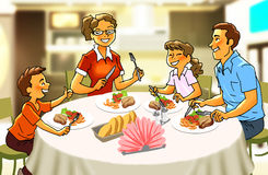 Familie beim essen clipart png library stock Tisch mit essen clipart - ClipartFest png library stock