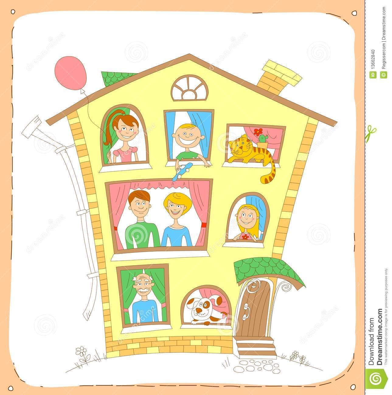 Familie haus clipart jpg download Familie haus clipart - ClipartFest jpg download