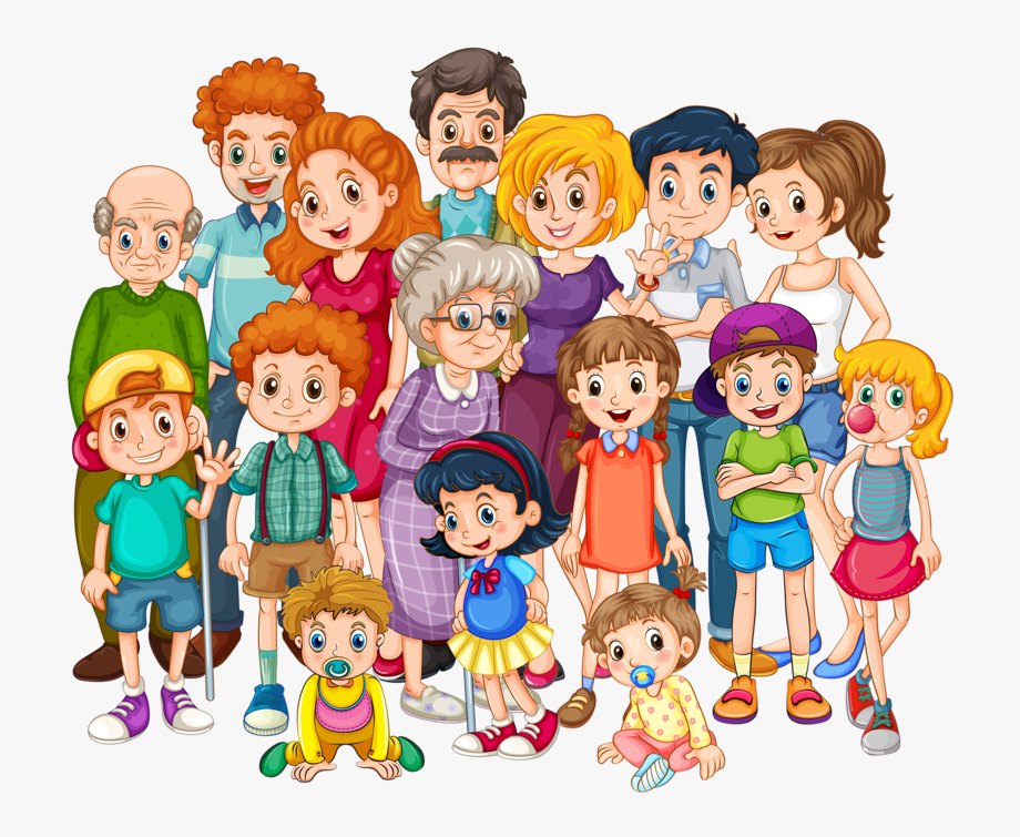 Family photos clipart png free download Big Family Clipart - Clipart Family , Transparent Cartoon, Free ... png free download