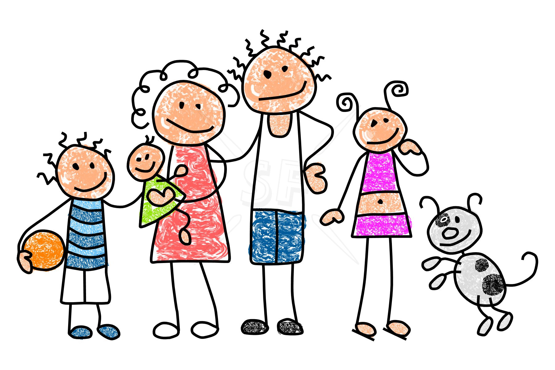 Family clipart 5 people stick people jpg royalty free Free Pictures Family, Download Free Clip Art, Free Clip Art on ... jpg royalty free