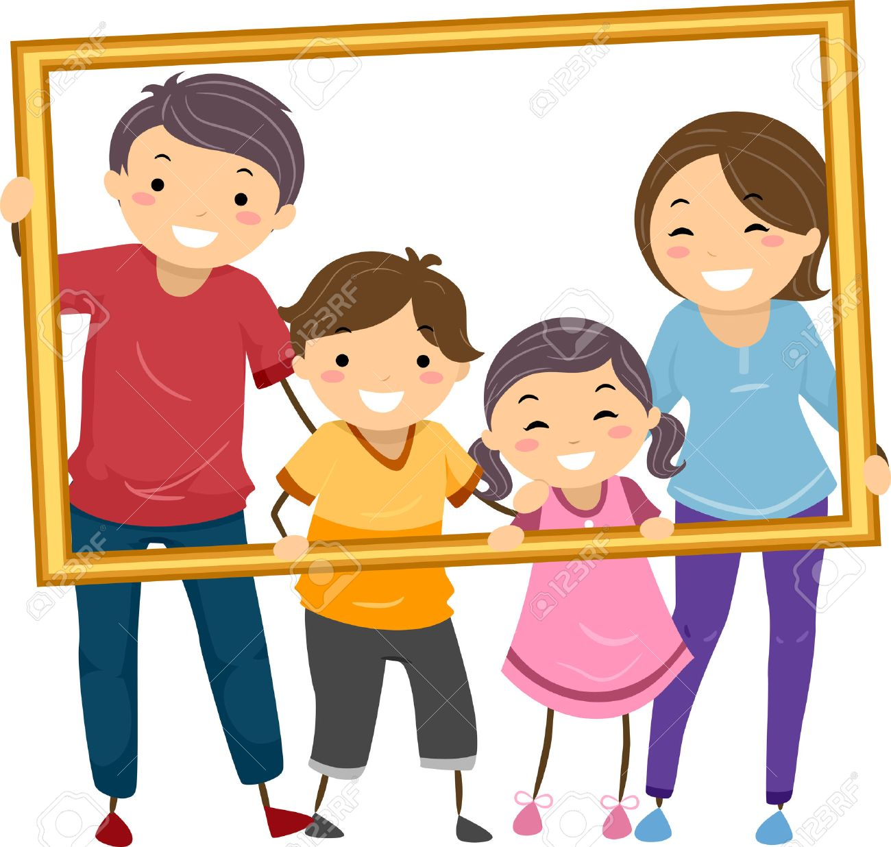 Family photo frames clipart image library download Happy families clipart 1 » Clipart Station image library download