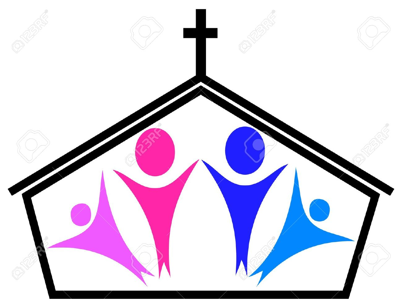 Families listening to preacher at church clipart clip art transparent library Going To Church Clipart | Free download best Going To Church Clipart ... clip art transparent library