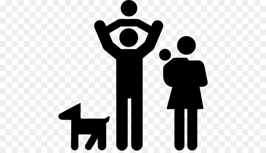 Family and dog clipart jpg free library Family Silhouettetransparent png image & clipart free download jpg free library