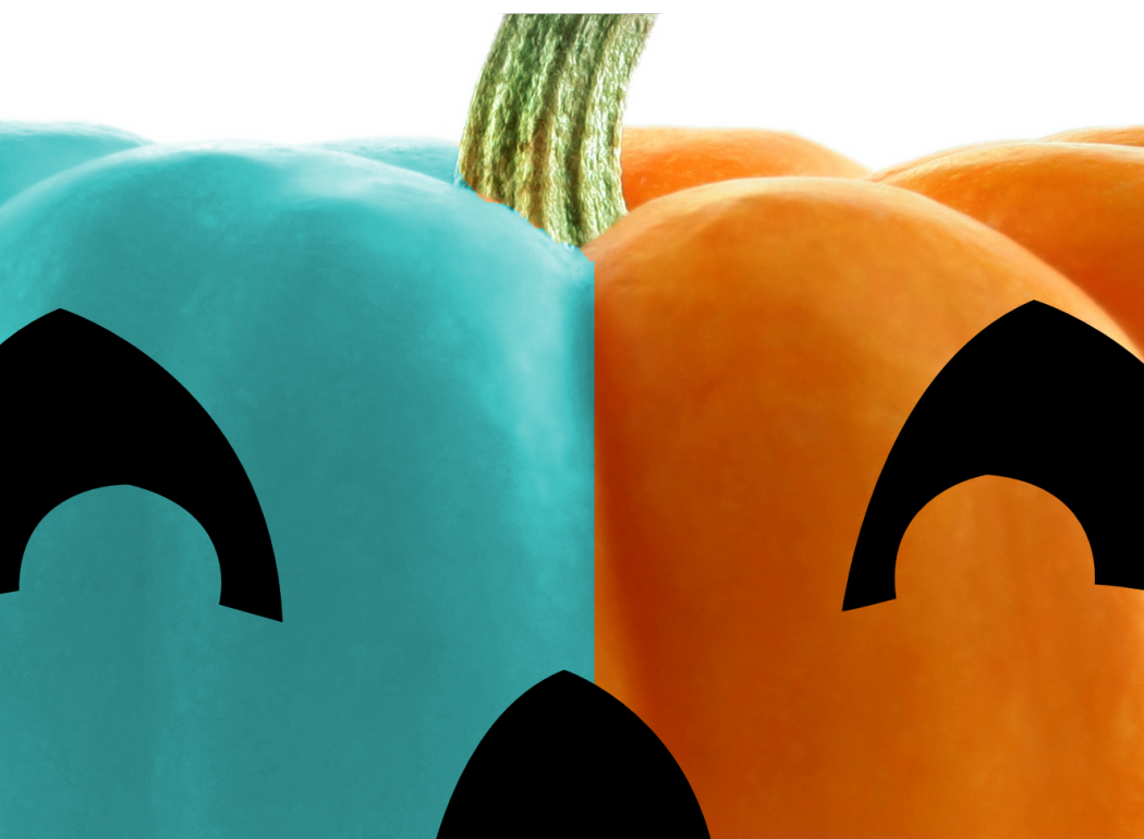 Pumpkin clipart in every color picture freeuse Halloween Colors: Orange, Black, and...Teal? - Pretend City ... picture freeuse