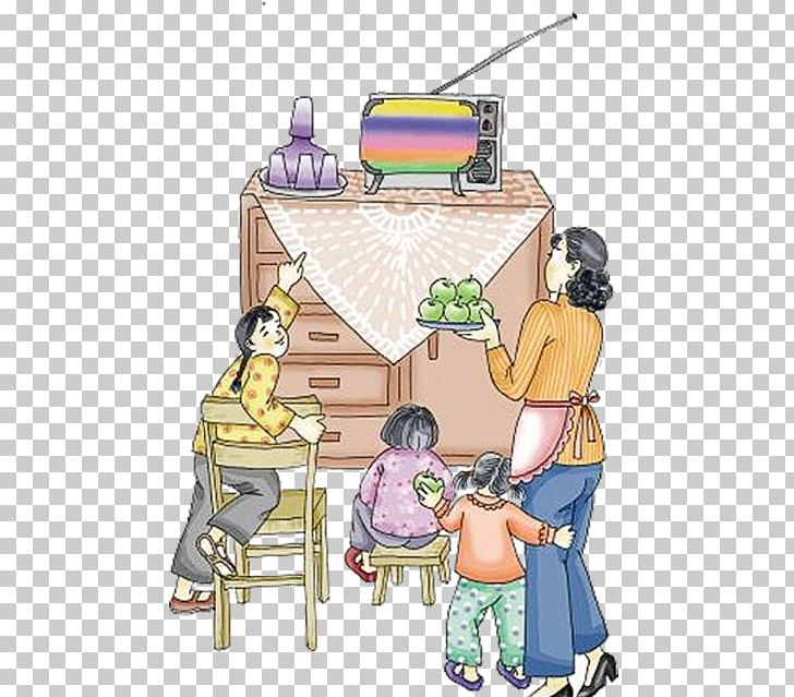 Family at dinner in the 80s clipart picture black and white download Television Illustration PNG, Clipart, 80s, Art, Cartoon, Chinese New ... picture black and white download