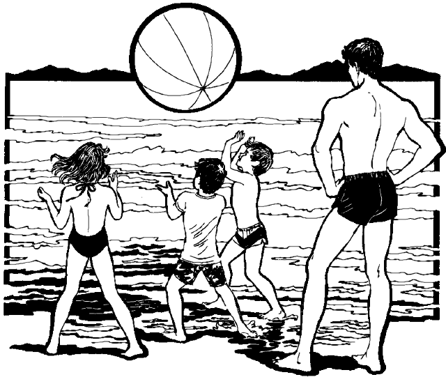 Family at the beach clipart black and white graphic Beach black and white family at the beach clipart black and white 7 ... graphic