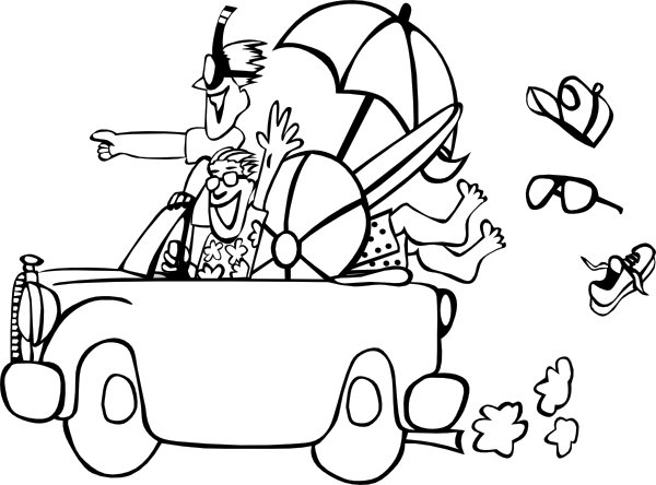 Family at the beach clipart black and white image stock Beach Trip Clip Art at Clker.com - vector clip art online, royalty ... image stock