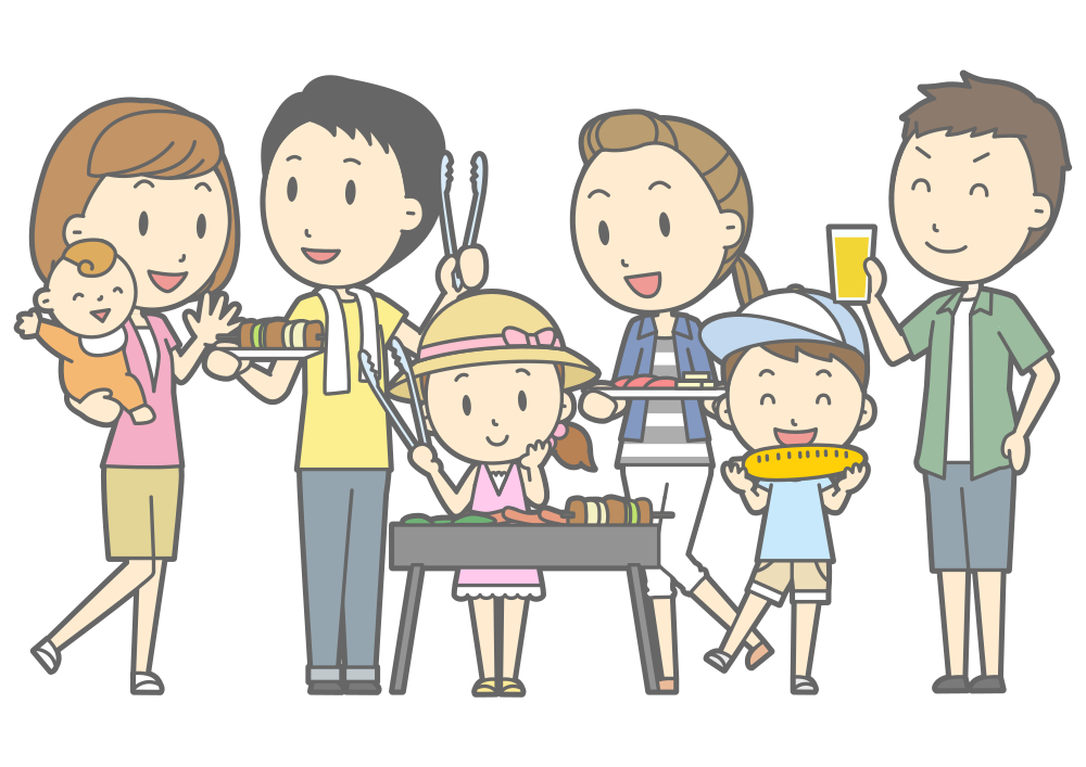 Family barbecue clipart free stock OnlineLabels Clip Art - Family Barbecue (#1) free stock