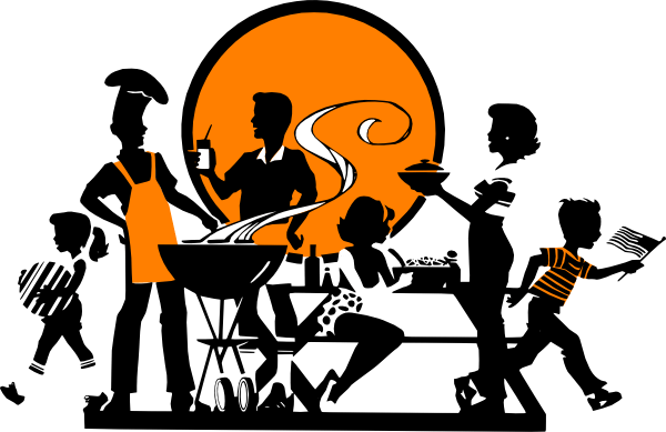 Family barbecue clipart clipart library Family bbq clipart 2 » Clipart Portal clipart library