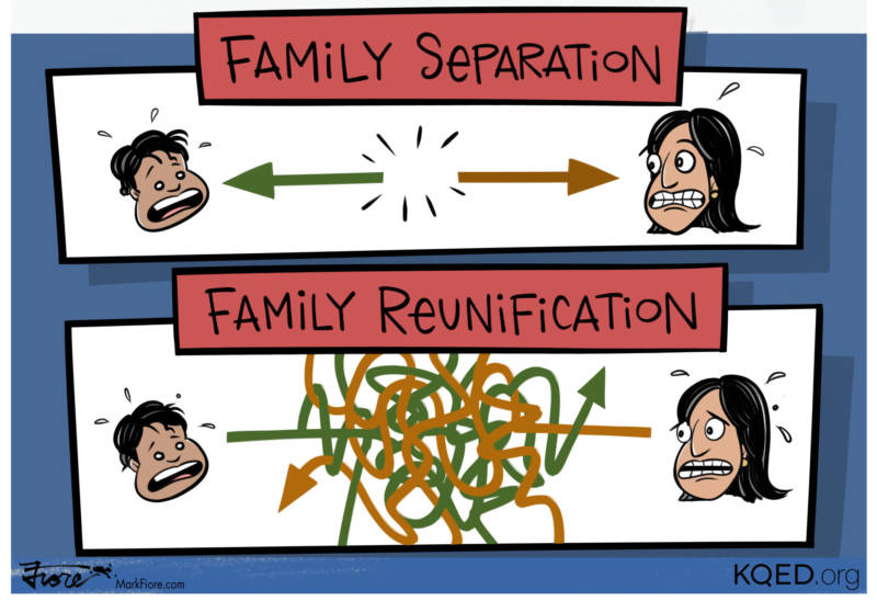 Family being seperated clipart banner library stock Families Remain Separated, Parents Face Dire Choice | Mark Fiore ... banner library stock