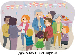 Family celebration clipart freeuse Bond Clip Art - Royalty Free - GoGraph freeuse