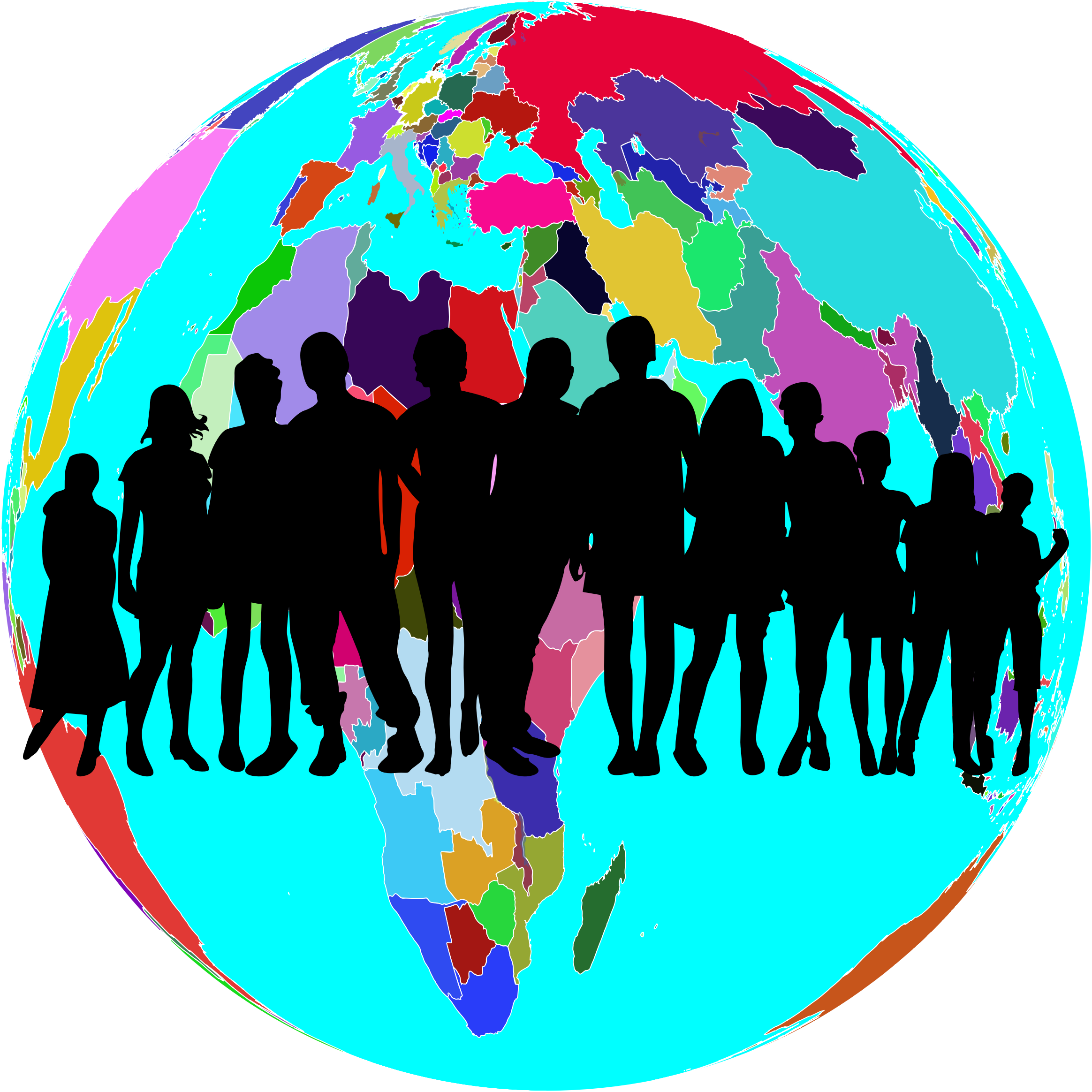 Family book clipart picture transparent Clipart - Colorful World Globe Human Family picture transparent