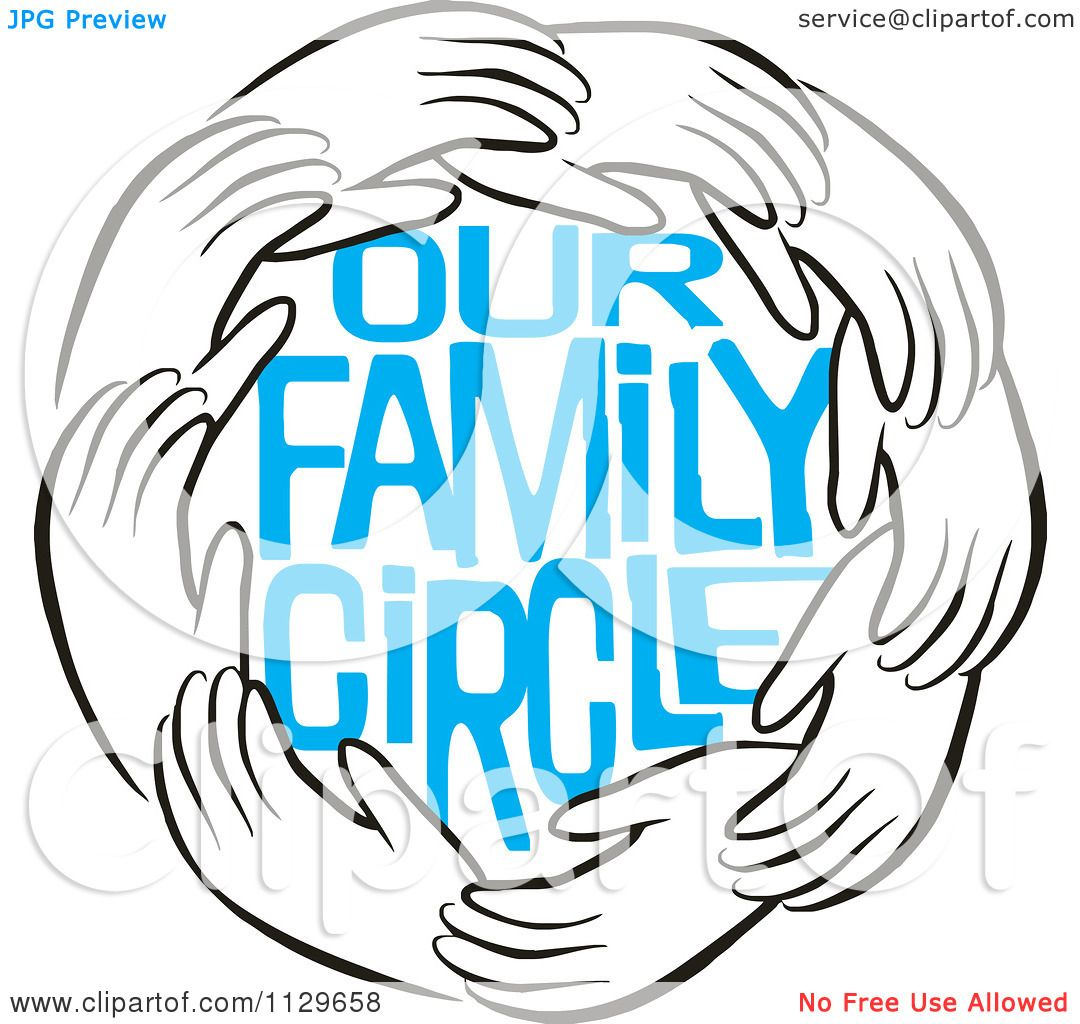 Family cicle clipart clip download Blue Our Family Circle | Family reunions | Family circle, Black ... clip download