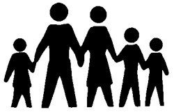 Family clipart 4 people 1 daughter 1 son black and white clip art transparent Family clipart 4 people 1 daughter 1 son black and white ... clip art transparent