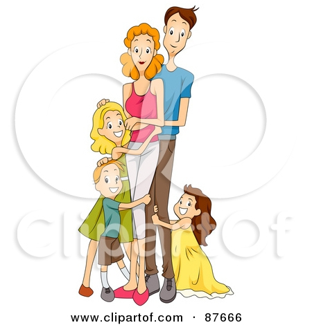 Family clipart 4 people 1 daughter 1 son black and white clip art black and white stock Family clipart 4 people 1 daughter 1 son black and white - ClipartFest clip art black and white stock