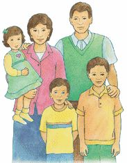 Family clipart 5 people 1 daughter 2 sons jpg black and white stock Family clipart 5 people 1 daughter 2 sons - ClipartFest jpg black and white stock