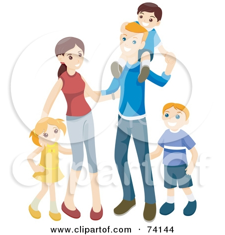 Family clipart 5 people 1 daughter 2 sons picture black and white download Family Clipart 5 People 2 Daughters 1 Son - clipartsgram.com picture black and white download