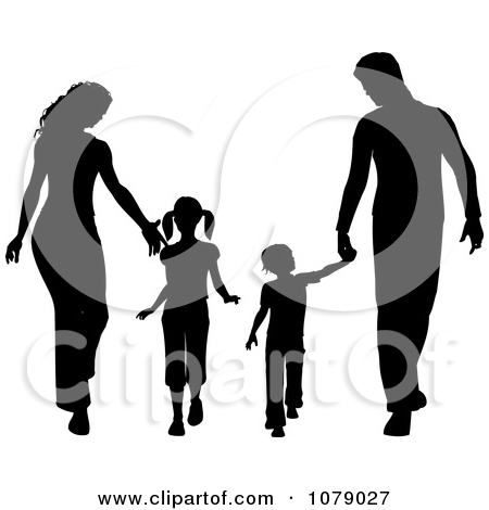 Family clipart 5 people 1 daughter 2 sons image library Father Posters & Father Art Prints #24 image library