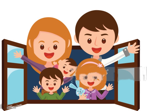 Family clipart 5 people 1 daughter 2 sons transparent Ella -with Best Holiday Memories transparent
