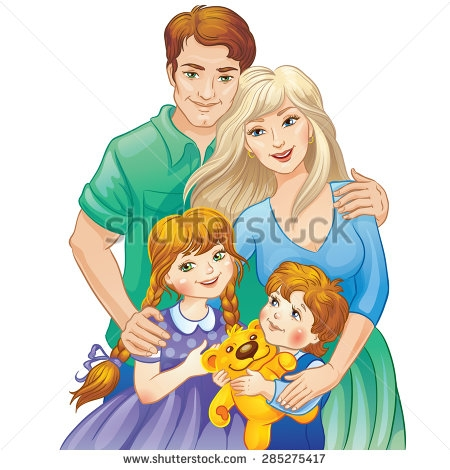 Family clipart 5 people 1 daughter 2 sons free stock Family Clipart 5 People 2 Daughters 1 Son - clipartsgram.com free stock