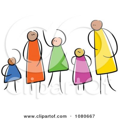 Family clipart 5 people 1 daughter 2 sons svg stock Family Clipart - Info, Details, Images, Archives svg stock