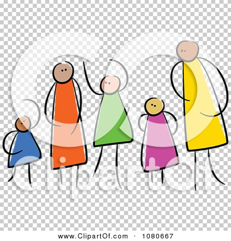 Family clipart 5 people 2 daughters 1 son graphic royalty free Clipart Diverse Stick People Family 2 - Royalty Free Vector ... graphic royalty free