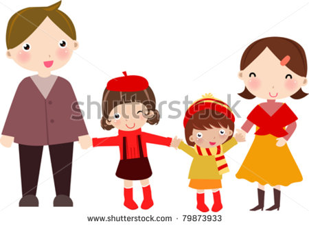 Family clipart 5 people 2 daughters 1 son jpg transparent stock Father two daughters clipart - ClipartFox jpg transparent stock