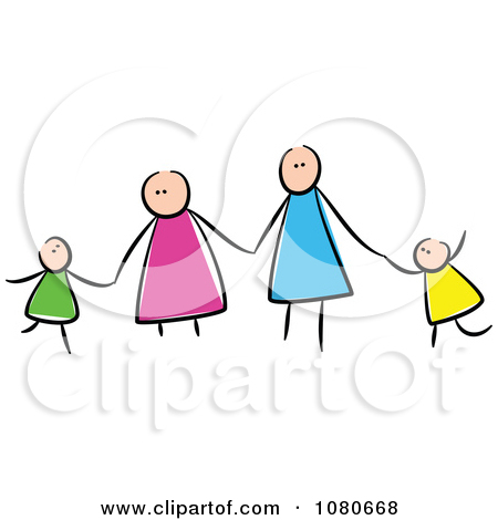 Family clipart 5 people 2 daughters 1 son png black and white library Surprised Caucasian Mother Holding an Evil Baby Posters, Art ... png black and white library