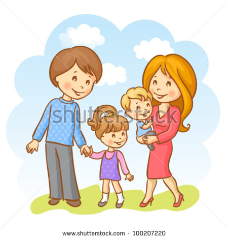 Family clipart 5 people 2 daughters 1 son stock Family clipart 4 people 1 daughter 1 son - ClipartFox stock