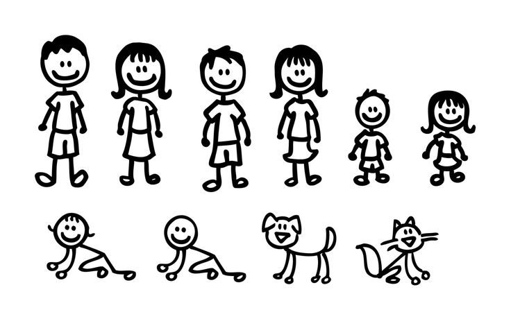 Family clipart 5 people stick people banner freeuse Free Stick Figure Family, Download Free Clip Art, Free Clip Art on ... banner freeuse