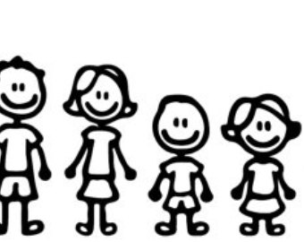 Family clipart 5 people stick people vector black and white library Stick Figure Family Of 4 Group with 58+ items vector black and white library