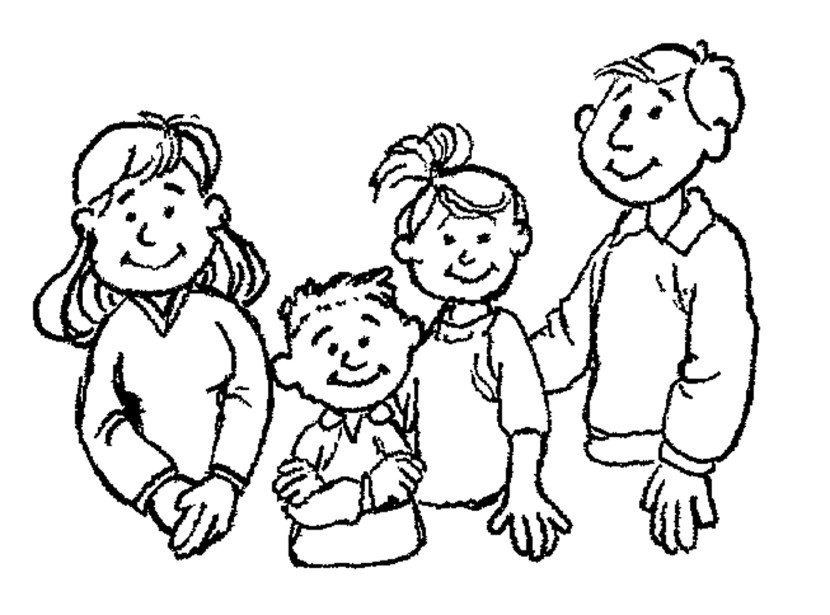 Family clipart black and white 4 people image free Family Black And White Black Family Clipart – Wikiclipart within Lds ... image free