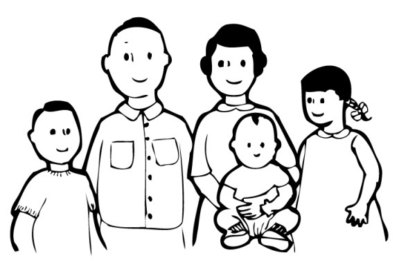 Family of 4 black and white clipart picture transparent stock Family Clipart Black And White 3 People | Letters for Family Clipart ... picture transparent stock
