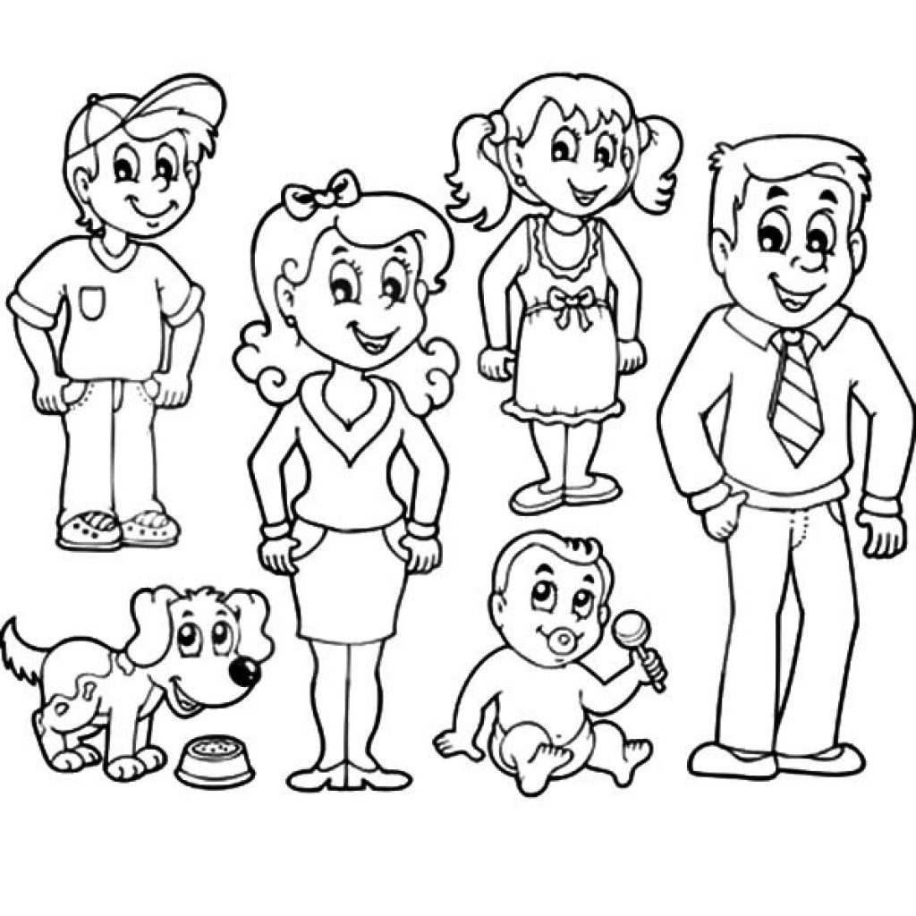 Family clipart black and white 4 people graphic black and white library Family clipart black and white 4 people 2 » Clipart Portal graphic black and white library